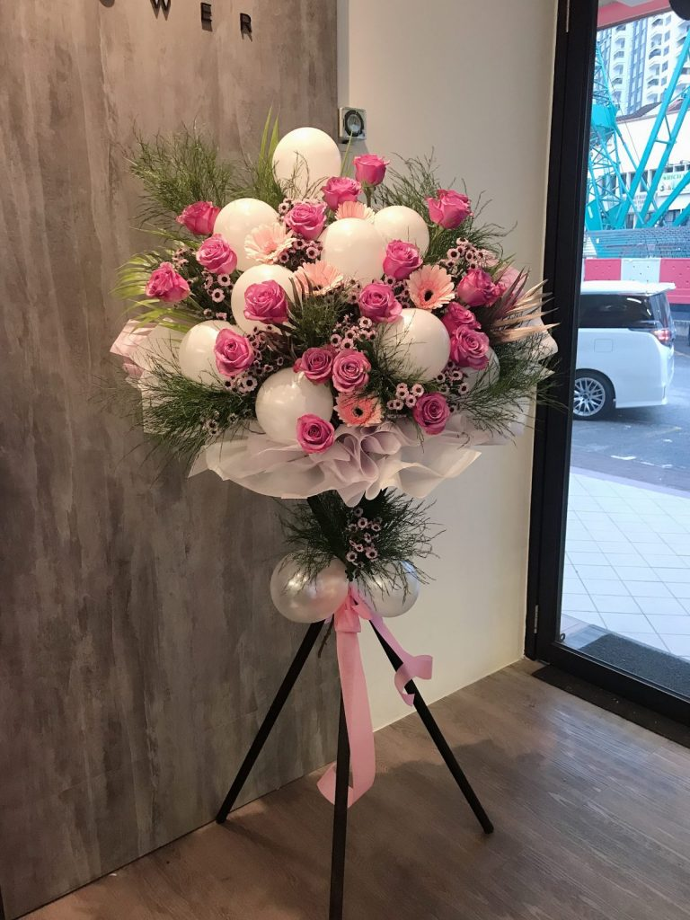 grand opening flower stand,